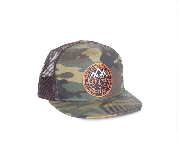 Adventure Team Camo Trucker Hat by Tasco MTB