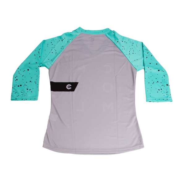 Warhol Women's Trail Jersey 3/4 - Green by Compel