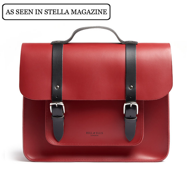 BERTIE - Red Leather Bike Bag by Hills & Ellis