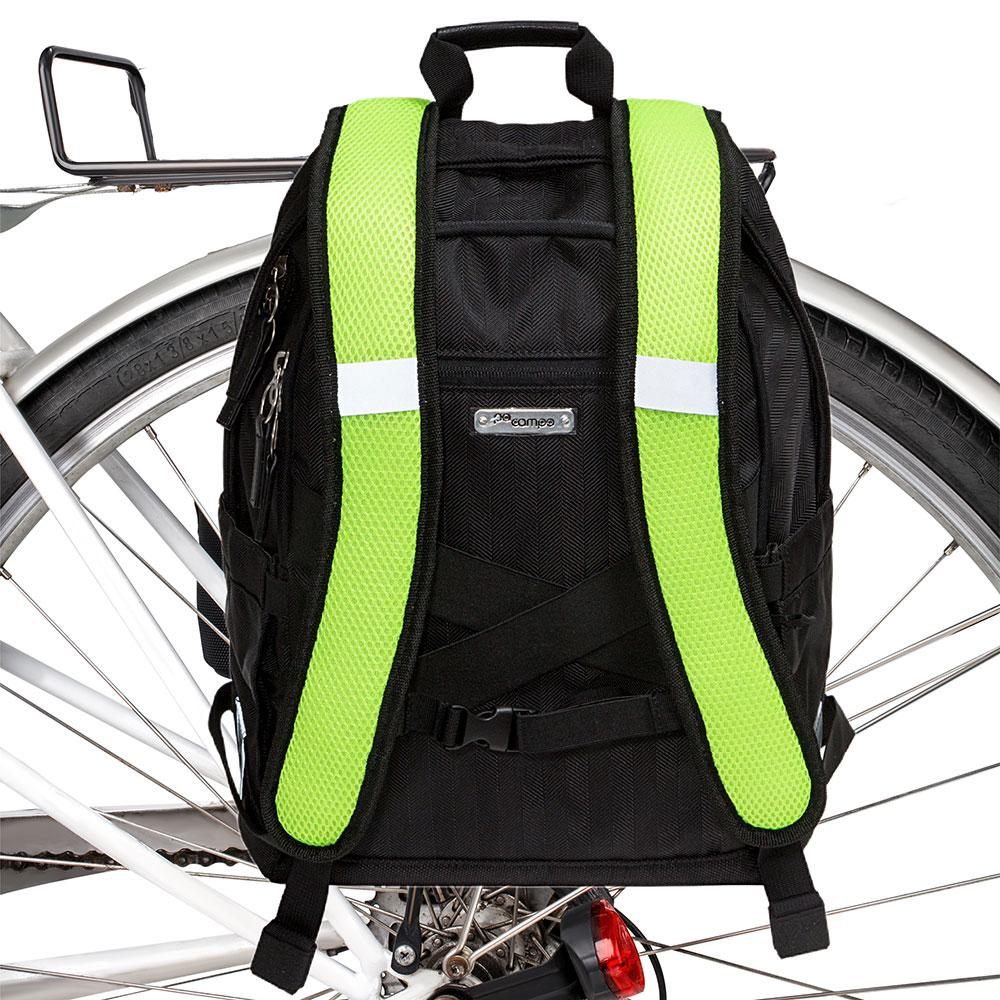 Irving Backpack Pannier - Black Herringbone by Po Campo