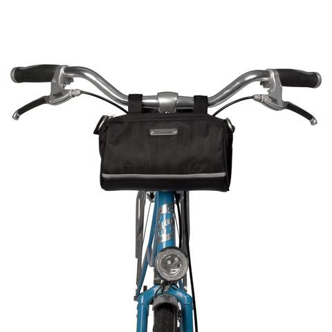 Kinga Handlebar Bag - Black Herringbone by Po Campo