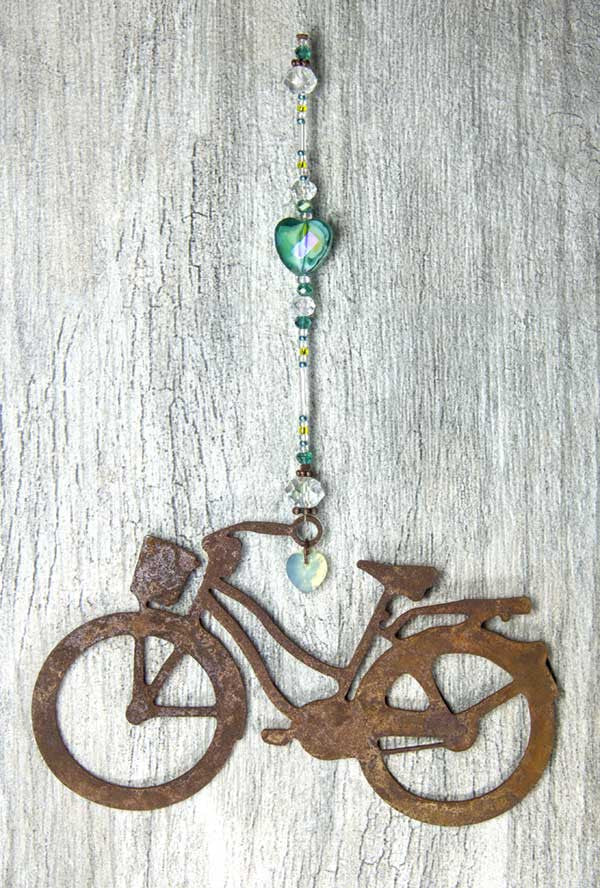 Bike Love Sun Catcher - Aqua Cruiser by bici bits