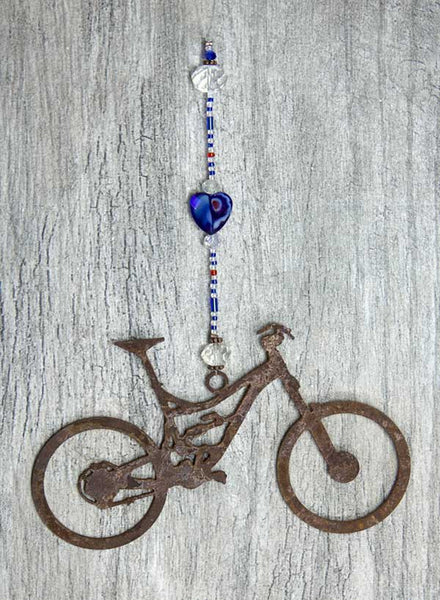 Bike Love Sun Catcher - Azure Road Bike by bici bits