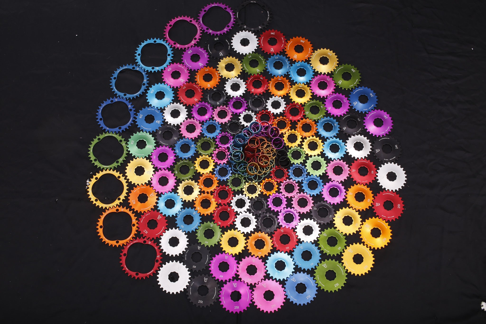 ANODIZED KICK ASS COGS - by Endless Bike Company