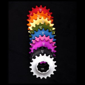 ANODIZED KICK ASS COGS 15T to 19T- by Endless Bike Company
