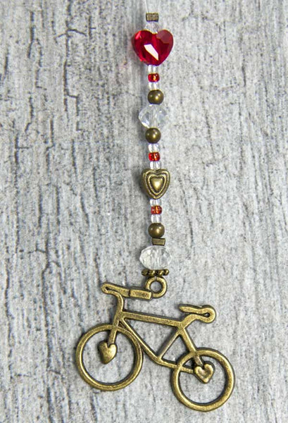Bike Love Mini's - Bronze Heart by bici bits