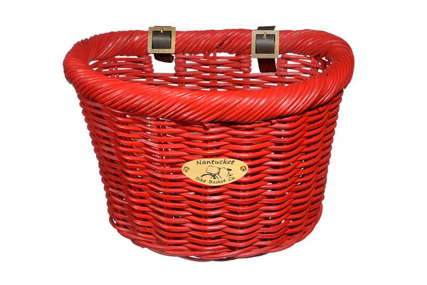 Cruiser Adult D-Shape Basket - Red by Nantucket Baskets