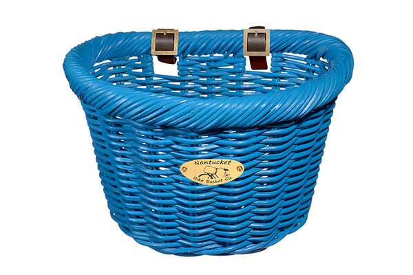 Cruiser Adult D-Shape Basket - Bright Blue by Nantucket Baskets