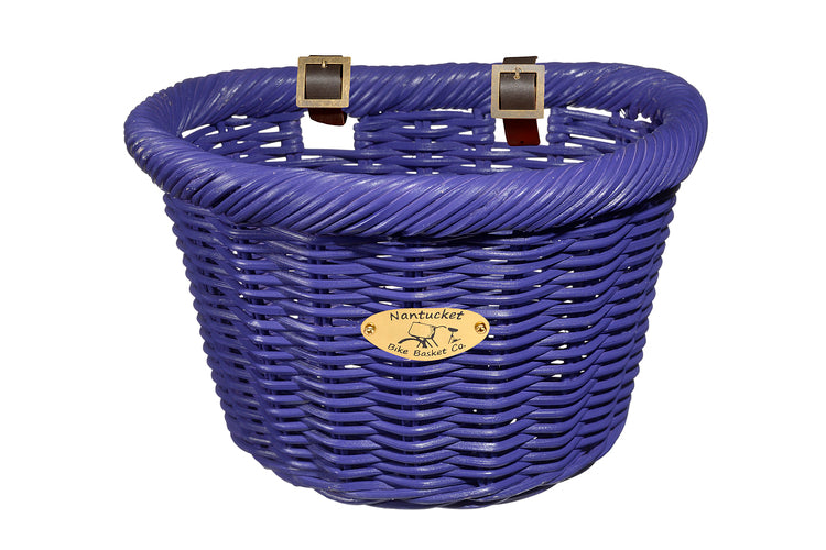 Cruiser Adult D-Shape Basket - Purple by Nantucket Baskets