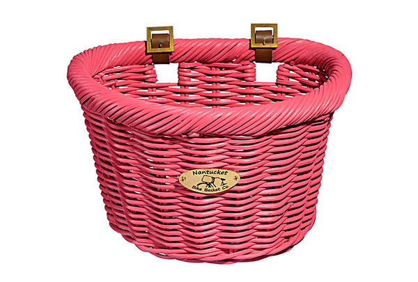 Cruiser Adult D-Shape Basket - Pink by Nantucket Baskets