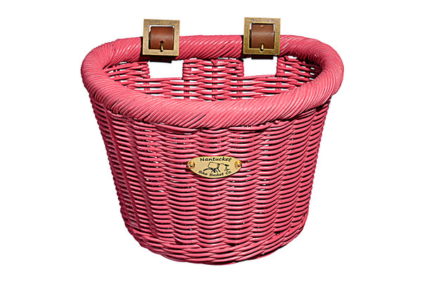 Gull & Buoy Child D-Shape Basket - Pink by Nantucket Baskets
