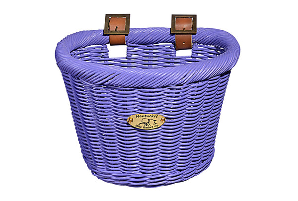 Gull & Buoy Child D-Shape Basket - Purple by Nantucket Baskets