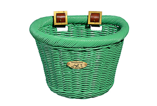 Gull & Buoy Child D-Shape Basket - Green by Nantucket Baskets