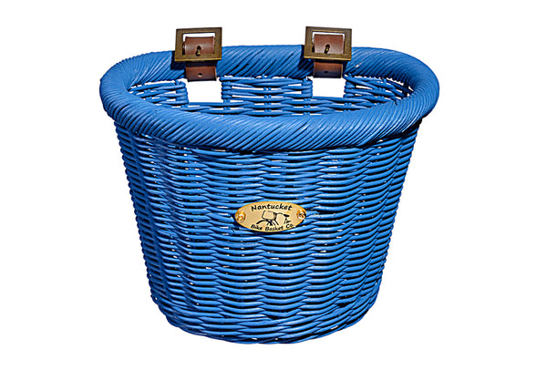Gull & Buoy Child D-Shape Basket - Royal Blue by Nantucket Baskets