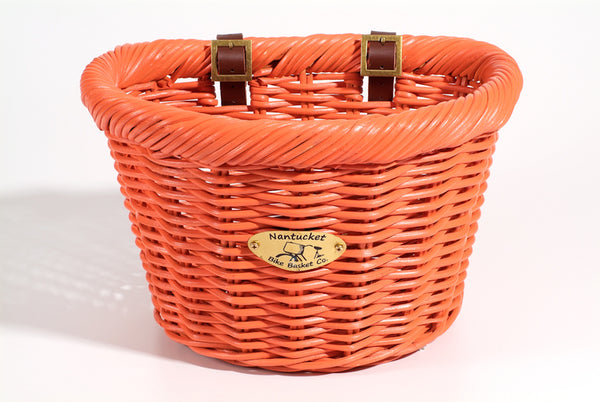Cruiser Adult D-Shape Basket - Carrot by Nantucket Baskets