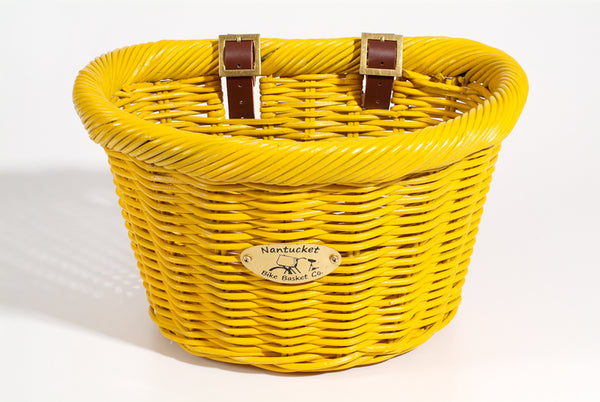 Cruiser Adult D-Shape Basket - Sunflower by Nantucket Baskets