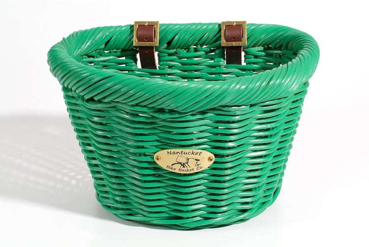 Cruiser Adult D-Shape Basket - Emerald by Nantucket Baskets