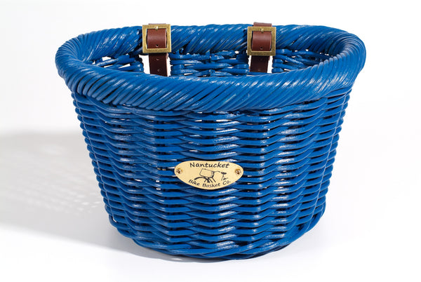 Cruiser Adult D-Shape Basket - Ocean by Nantucket Baskets