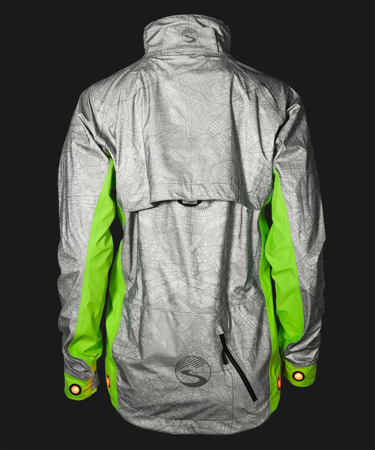 Women's Hi-Vis Torch Jacket - Reflective Silver/Neon Green by Showers Pass