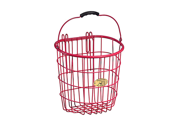 Surfside Rear Wire Pannier Basket - Pink by Nantucket Baskets