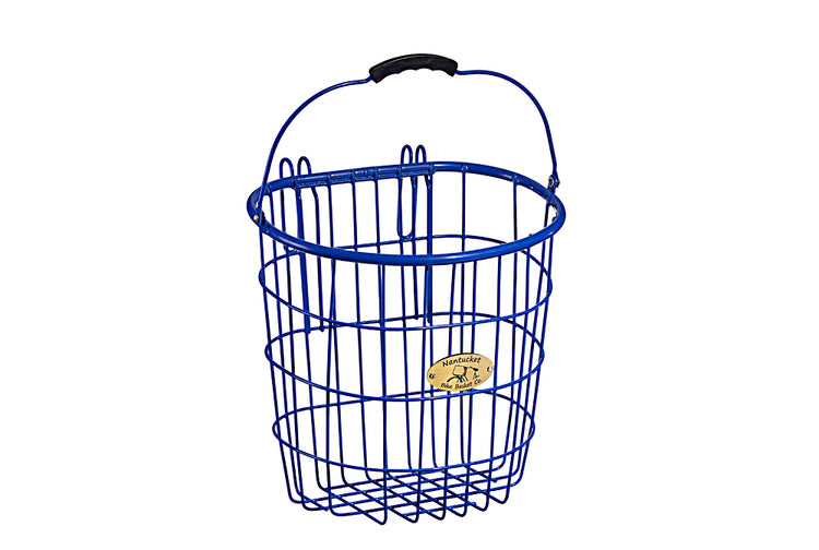 Surfside Rear Wire Pannier Basket - Royal Blue by Nantucket Baskets