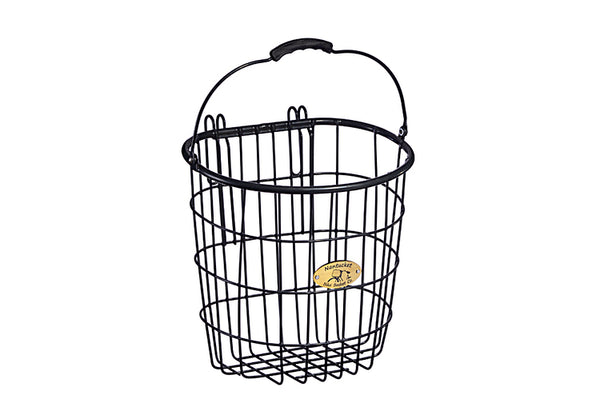 Surfside Rear Wire Pannier Basket - Charcoal Gray by Nantucket Baskets