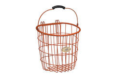 Surfside Rear Wire Pannier Basket - Orange by Nantucket Baskets