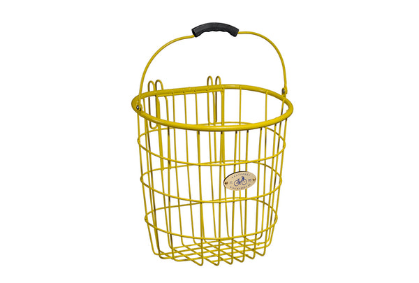 Surfside Rear Wire Pannier Basket - Yellow by Nantucket Baskets