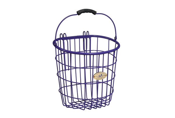 Surfside Rear Wire Pannier Basket - Purple by Nantucket Baskets