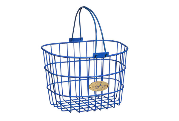 Surfside Adult Wire D-Shape Basket - Royal Blue by Nantucket Baskets