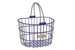 Surfside Adult Wire D-Shape Basket - Purple by Nantucket Baskets