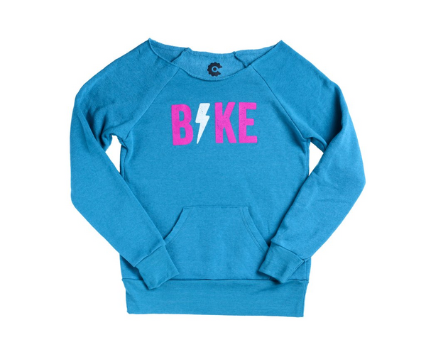 Bike Lightning Bolt Womens Sweater by Compel