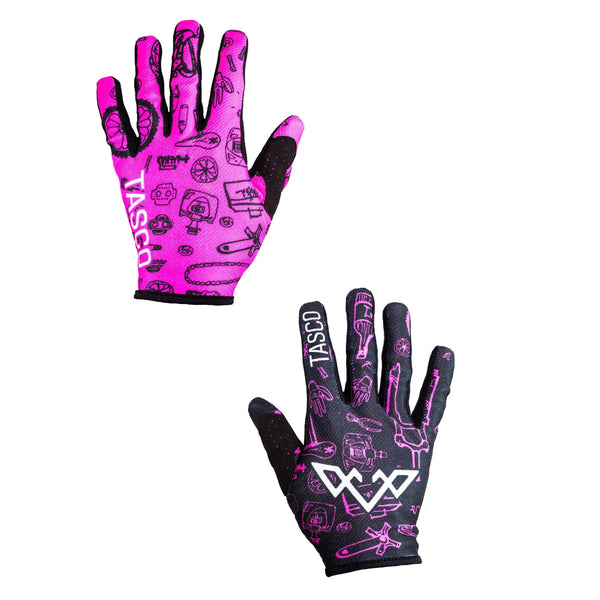 Double Digits Gloves - Pink Bike Bits by Tasco MTB