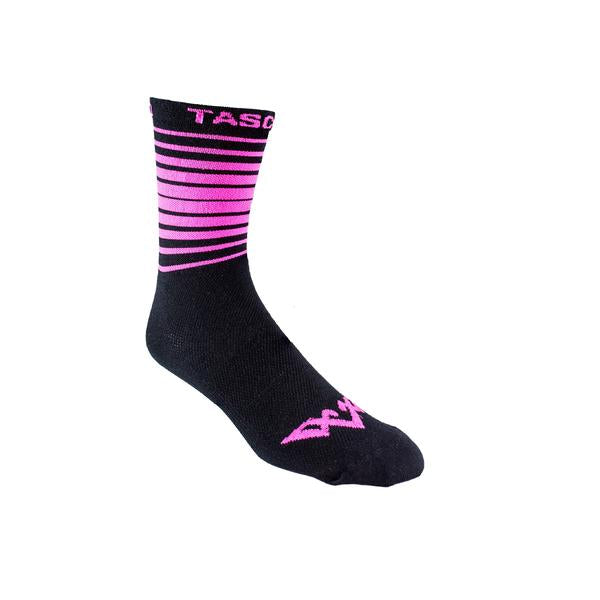 Double Digits Socks - Pink Stripe by Tasco MTB