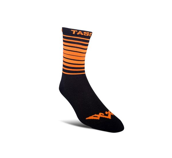 Double Digits Socks - Orange Stripe by Tasco MTB
