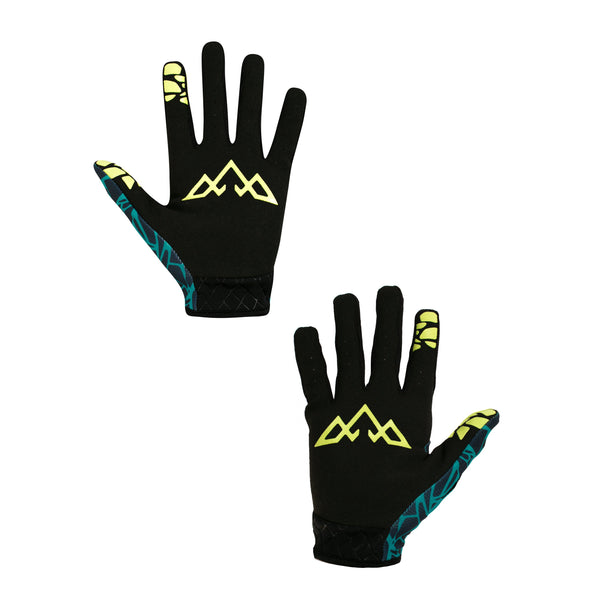 Double Digits Gloves - Unbroken - Blue / Green by Tasco MTB