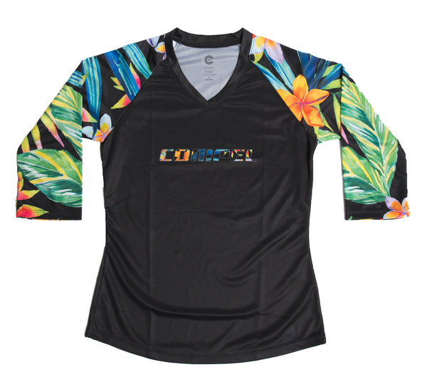 Tropical Women's Trail Jersey 3/4 by Compel