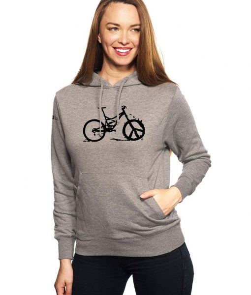 Women's Peace Wheel Long Sleeve Hoodie - Heather by bici bits