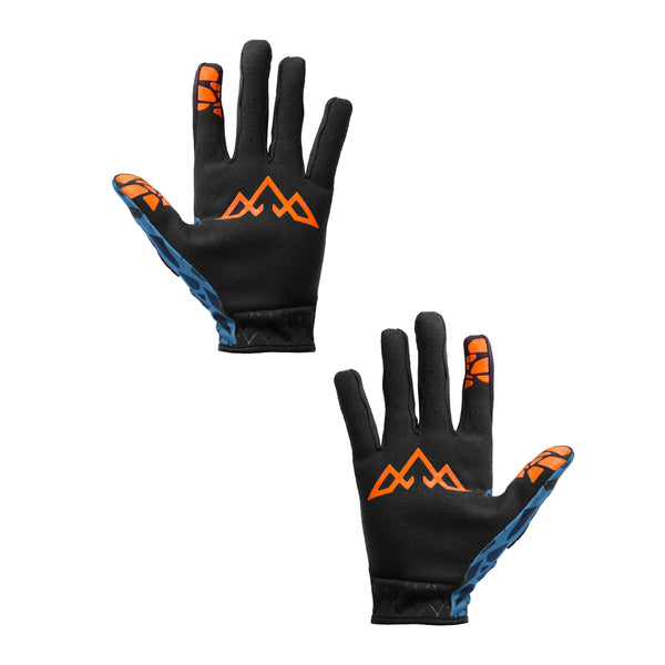 Double Digits Gloves - Unbroken - Blue / Orange by Tasco MTB