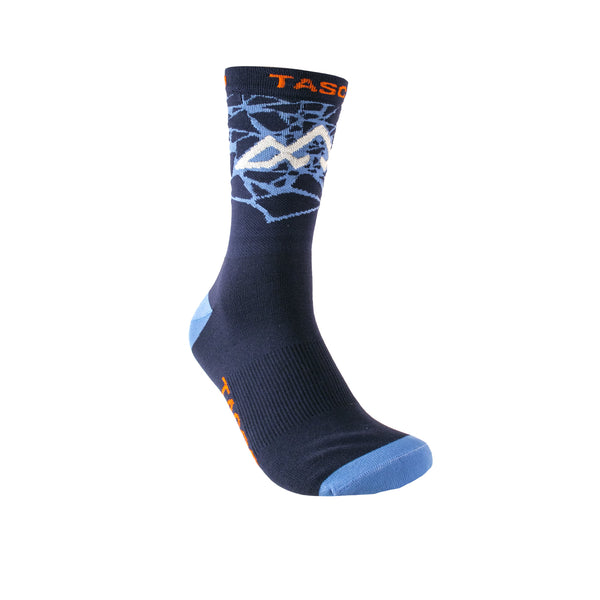 Double Digits Socks - Unbroken - Blue / Orange by Tasco MTB