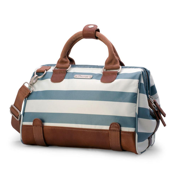 Uptown Bike Trunk Bag - Sky Stripes by Po Campo