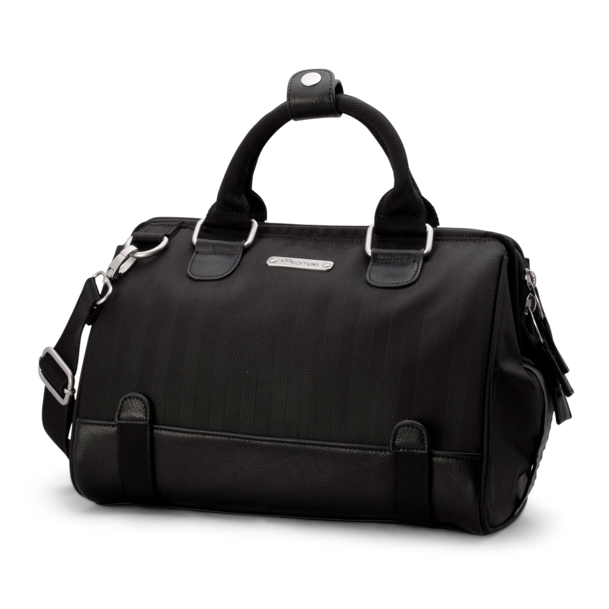 Uptown Bike Trunk Bag - Black Herringbone by Po Campo