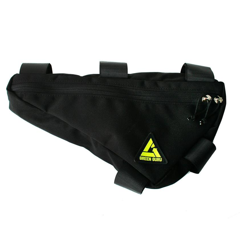Upshift Frame Bag - Large- Black by Green Guru
