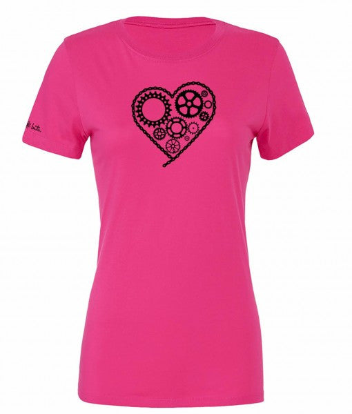 Women's Chain Heart T - Berry by bici bits