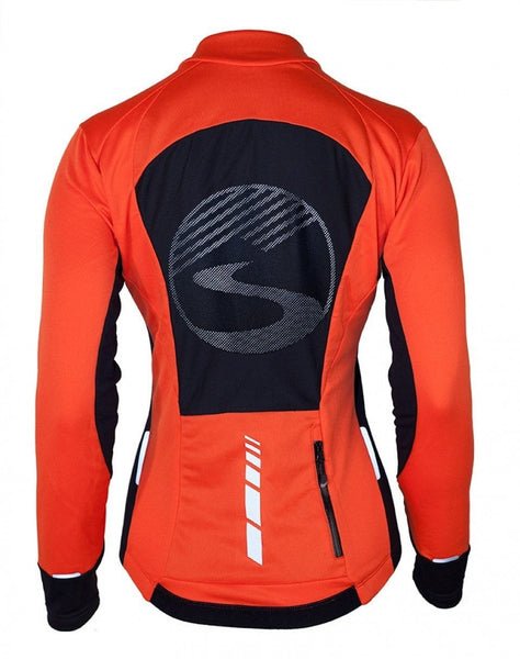 Women's Long Sleeve Alpine Jersey - Red by Showers Pass