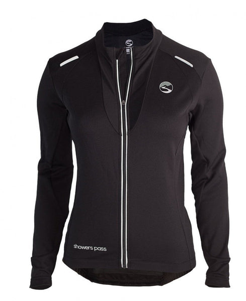 Women's Long Sleeve Alpine Jersey - Black by Showers Pass