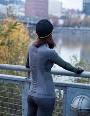 Women's Long Sleeve BodyMapped Baselayer - Graphite by Showers Pass