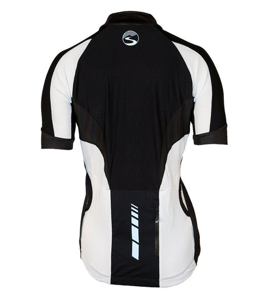 Women's Short Sleeve Cyclone Jersey - Black by Showers Pass