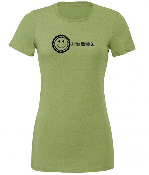 Women's Get Your Ride Smile On Cog - Green by bici bits