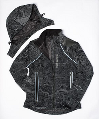 Women's Atlas Jacket - Map Reflective Black by Showers Pass